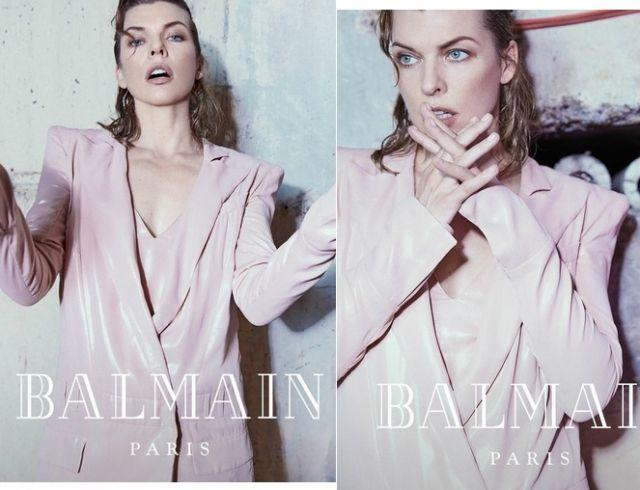 Мила Йовович стала лицом новой рекламной кампании Balmain