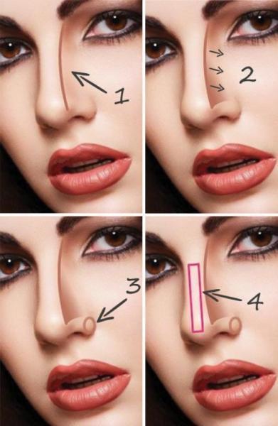 Как визуально уменьшить нос при помощи макияжа