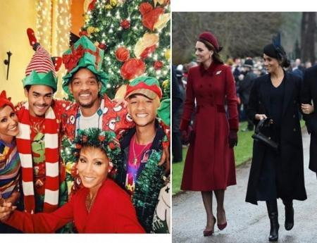 Как западные звезды отметили Рождество: Ким Кардашьян, Ева Лонгория, Синди Кроуфорд и другие