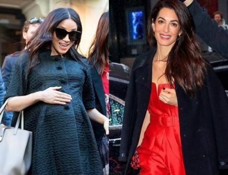 Амаль Клуни была замечена на вечеринке в честь первенца Меган Маркл (ФОТО)