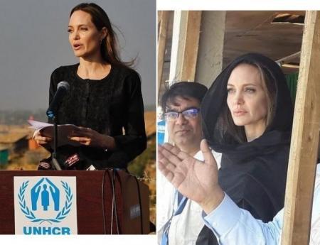 Анджелина Джоли прилетела в Бангладеш в рамках миссии ООН