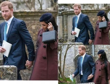 Принц Гарри и Меган Маркл появились на крестинах дочери Зары Тиндолл