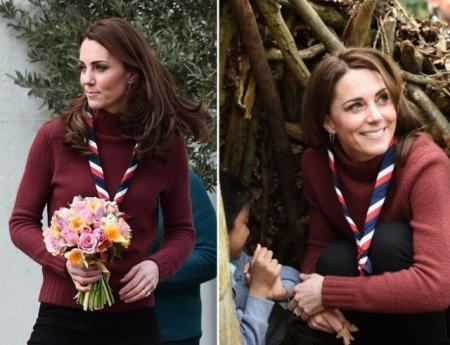 Герцогиня Кейт Миддлтон посетила лагерь скаутов (ФОТО+ВИДЕО)