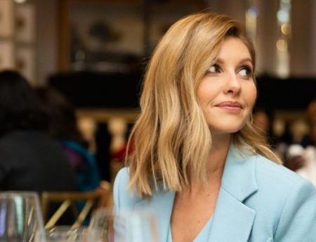 В жилетке на голое тело: Елена Зеленская посетила обед первых леди в Нью-Йорке (ФОТО)