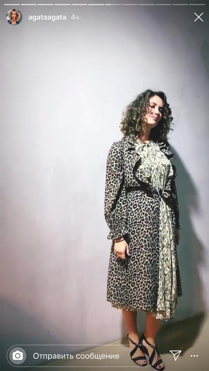 Неудачное леопардовое платье состарило Агату Муцениеце