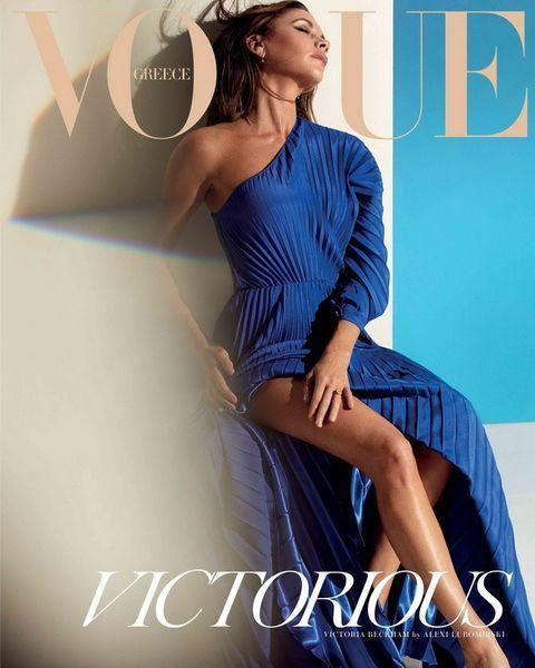 45-летняя Виктория Бекхэм появилась на обложке Vogue Greece
