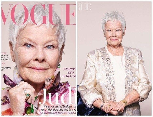 Новые стандарты: 85-летняя Джуди Денч украсила обложку британского Vogue