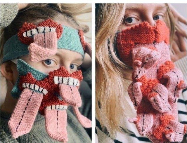 Маски-чудовища: дизайнер из Исландии шьет пугающие маски от коронавируса (ФОТО)